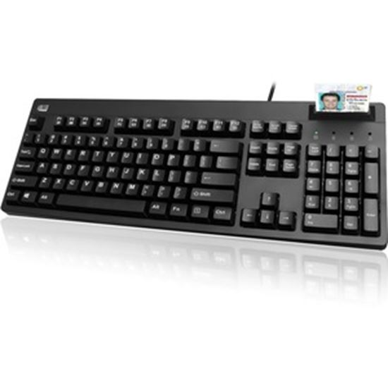 Picture of Adesso TAA Compliant Smart Card Reader Keyboard
