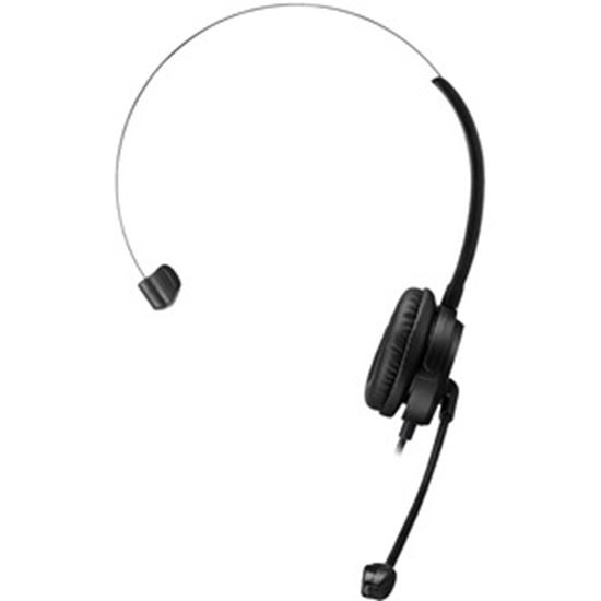 Picture of Adesso USB Single-Sided Headset with Adjustable Microphone- Noise Cancelling- Mono - USB - Wired - Over-the-head - 6 ft Cable -, Omni-directional Microphone - Black