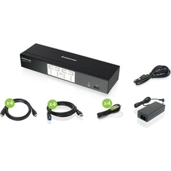 Picture of IOGEAR 4-Port 4K KVMP Switch with HDMI Connection, USB 3.0 Hub, and Audio (TAA)