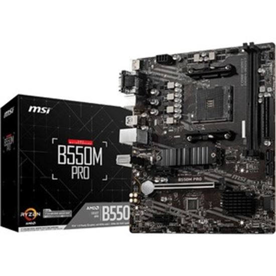 Picture of MSI B550M PRO Desktop Motherboard - AMD Chipset - Socket AM4 - Micro ATX