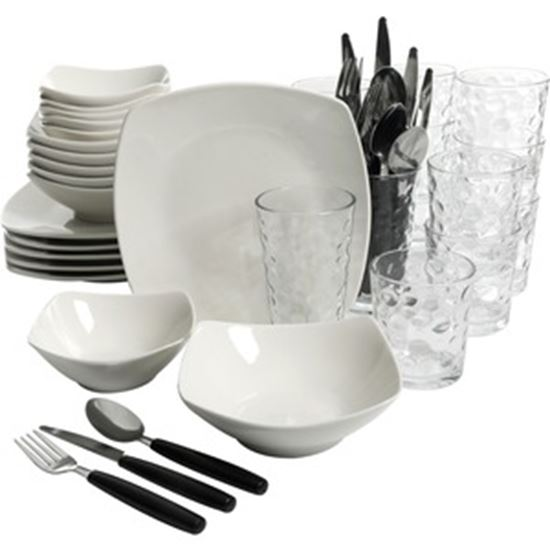 Picture of Gibson Home All U Need 48 Piece Dinnerware Combo Set, White