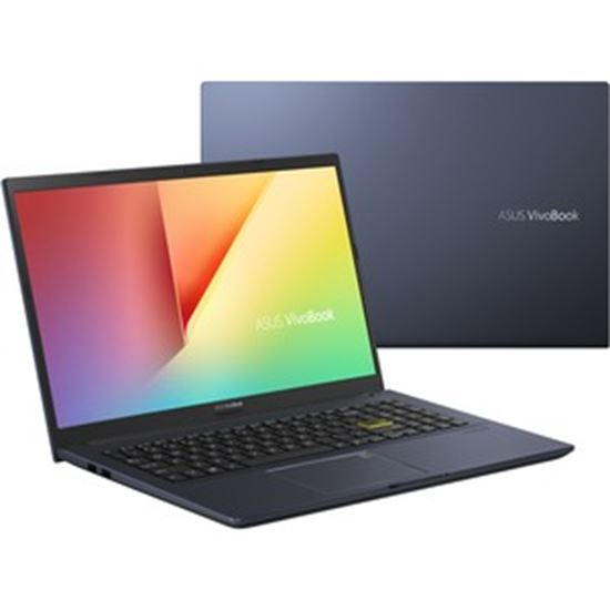 "Picture of Asus VivoBook 15 F513 F513IA-EB55 15.6"" Notebook - Full HD - 1920 x 1080 - AMD Ryzen 5 4500U Quad-core (4 Core) 2.30 GHz - 8 GB RAM - 1 TB HDD - 128 GB SSD - Bespoke Black"