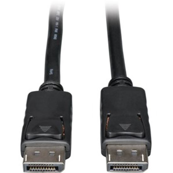 Picture of Tripp Lite DisplayPort 1.4 Cable w Latching Connectors 8K HDR M/M Black 10ft