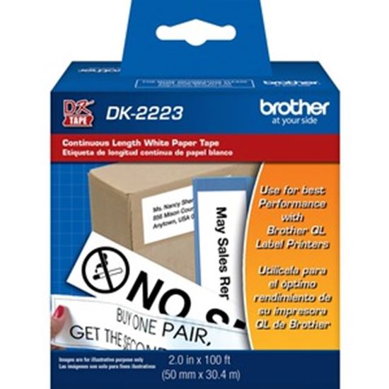 Picture of Brother DK2223 - White Continuous Length Paper Tape