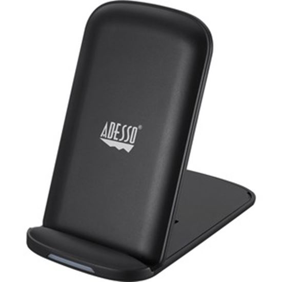 Picture of Adesso 10W Max Qi-Certied 2 Coils Wireless Charging Foldable Stand