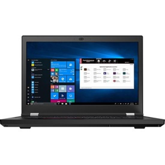 """Picture of Lenovo ThinkPad P15 Gen 1 20STS0EF00 15.6"""" Mobile Workstation - Full HD - 1920 x 1080 - Intel Core i7 (10th Gen) i7-10750H Hexa-core (6 Core) 2.60 GHz - 8 GB RAM - 256 GB SSD - Glossy Black"""