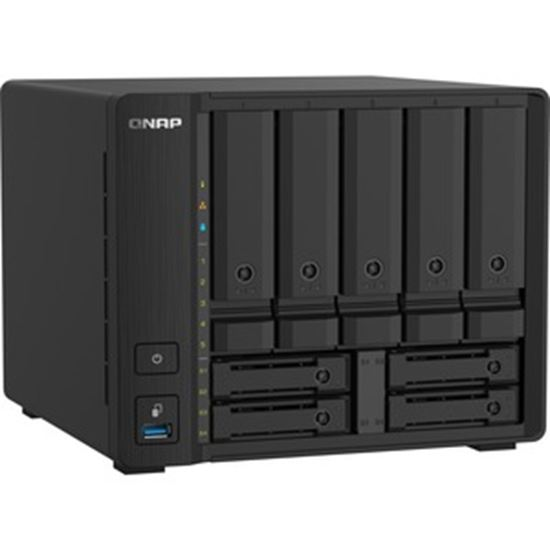 Picture of QNAP Compact 9-bay NAS with 10GbE SFP+ and 2.5GbE for Smoother File Applications