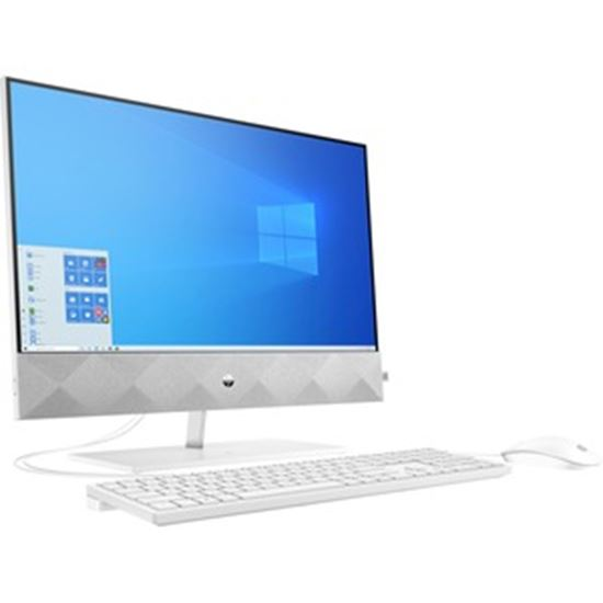 """Picture of HP Pavilion 24-k0000 24-k0220z All-in-One Computer - AMD Ryzen 5 4600H Hexa-core (6 Core) 3 GHz - 16 GB RAM DDR4 SDRAM - 1 TB HDD - 256 GB M.2 PCI Express NVMe SSD - 23.8"""" Full HD 1920 x 1080 Touchscreen Display - Desktop - Refurbished"""