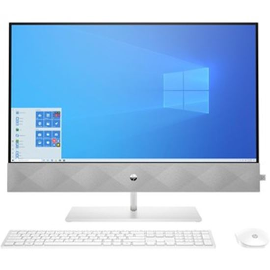 """Picture of HP Pavilion 27-d0000 27-d0240t All-in-One Computer - Intel Core i7 10th Gen i7-10700T Octa-core (8 Core) 2 GHz - 16 GB RAM DDR4 SDRAM - 1 TB HDD - 256 GB SSD - 27"""" Full HD 1920 x 1080 Touchscreen Display - Desktop - Refurbished"""