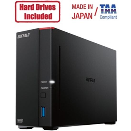 Picture of Buffalo LinkStation 710D 2TB Hard Drives Included (1 x 2TB, 1 Bay)