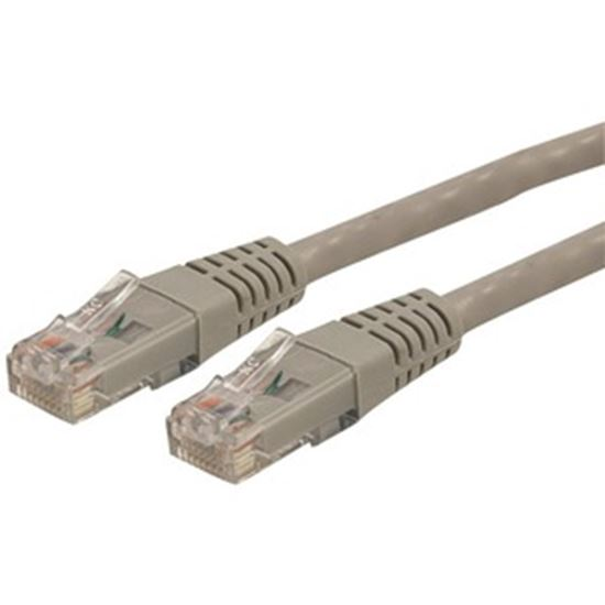 Picture of StarTech.com 35ft CAT6 Ethernet Cable - Gray Molded Gigabit - 100W PoE UTP 650MHz - Category 6 Patch Cord UL Certified Wiring/TIA