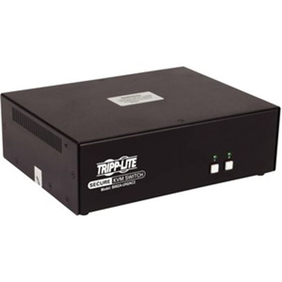 Picture of Tripp Lite 2-Port Dual-Monitor Secure KVM Switch, HDMI - 4K, NIAP PP3.0, Audio, CAC, TAA