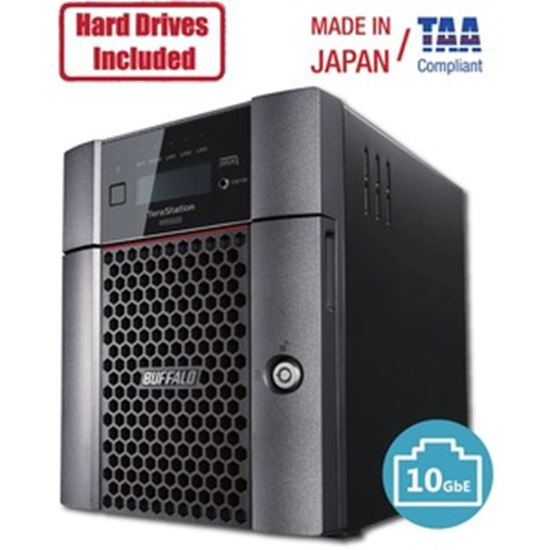Picture of Buffalo TeraStation 5420DN Windows Server IoT 2019 Standard 32TB 4 Bay Desktop (4x8TB) NAS Hard Drives Included RAID iSCSI