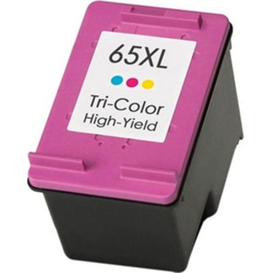 Picture of eReplacements Remanufactured Ink Cartridge - Alternative for HP 65XL - Tri-color