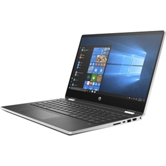"""Picture of HP Pavilion x360 14-dh2000 14-dh2085cl 14"""" Touchscreen 2 in 1 Notebook - Full HD - 1920 x 1080 - Intel Core i5 (10th Gen) i5-1035G1 Quad-core (4 Core) 1 GHz - 16 GB RAM - 512 GB SSD - Natural Silver, Ash Silver - Refurbished"""