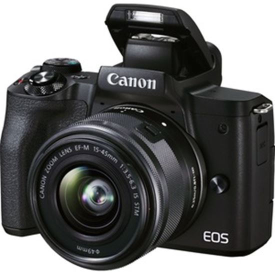 Picture of Canon EOS M50 Mark II 24.1 Megapixel Mirrorless Camera with Lens - 15 mm - 45 mm (Lens 1), 55 mm - 200 mm (Lens 2) - Black