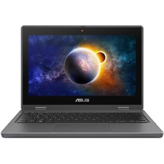 """Picture of Asus BR1100F BR1100FKA-502YT LTE 11.6"""" Touchscreen Rugged Notebook - HD - 1366 x 768 - Intel Celeron N4500 Dual-core (2 Core) 1.10 GHz - 4 GB RAM - 64 GB Flash Memory - Star Gray"""