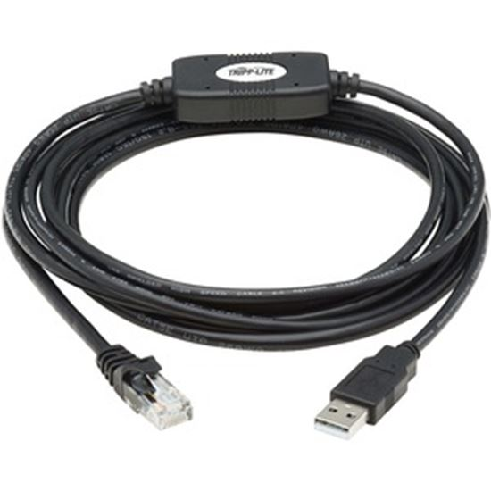 Picture of Tripp Lite USB-A to RJ45 Rollover Console Cable Cisco Compatible M/M 10ft