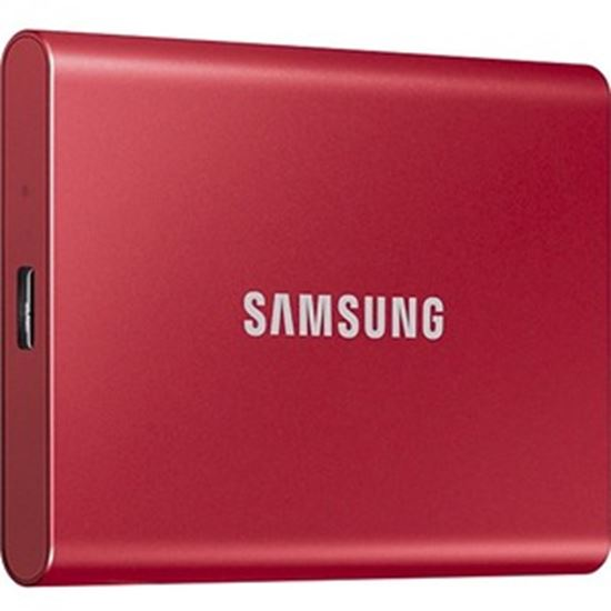 Picture of Samsung T7 MU-PC2T0R/AM 2 TB Portable Solid State Drive - External - PCI Express NVMe - Metallic Red