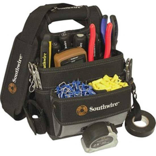Picture of Southwire BAGESP Carrying Case Tools, Screw, Tape Measure, Hammer, Flashlight, Wire, Accessories - Black