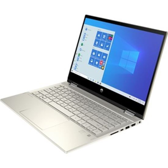 """Picture of HP Pavilion x360 14m-Dw1023dx 14"""" Touchscreen 2 in 1 Notebook - Full HD - 1920 x 1080 - Intel Core i5 (11th Gen) i5-1135G7 Quad-core (4 Core) - 8 GB RAM - 256 GB SSD - Warm Gold - Refurbished"""