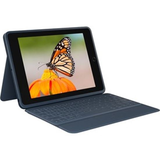 Picture of Logitech Rugged Combo 3 Rugged Keyboard/Cover Case Apple, Logitech iPad (8th Generation), iPad (7th Generation) Tablet