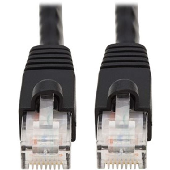 Picture of Tripp Lite 25ft Augmented Cat6 Cat6a Snagless 10G Patch Cable RJ45 Black 25'