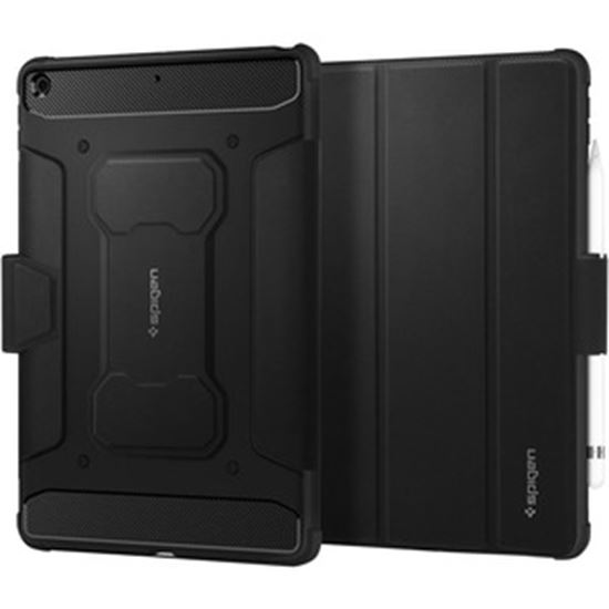 """Picture of Spigen Rugged Armor Pro Rugged Carrying Case for 10.2"""" Apple iPad (8th Generation), iPad (7th Generation) Tablet - Black"""