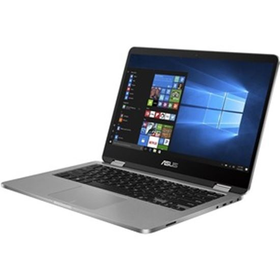 """Picture of Asus VivoBook Flip 14 TP401 TP401MA-XS24T 14"""" Touchscreen 2 in 1 Notebook - HD - 1366 x 768 - Intel Pentium Silver N5030 Quad-core (4 Core) 1.10 GHz - 4 GB RAM - 128 GB Flash Memory - Light Gray"""