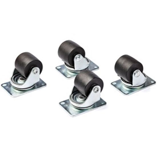 Picture of StarTech.com Heavy Duty Casters for Server Racks/Cabinets, Set of 4 Universal M6 2-inch Caster Wheels Kit, 45x75mm Pattern Casters, Swivel