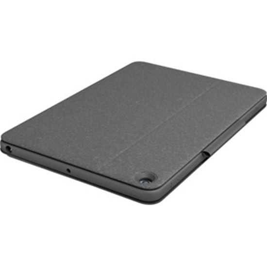 """Picture of Logitech Combo Touch Keyboard/Cover Case for 12.9"""" Apple, Logitech iPad Pro (5th Generation) Tablet - Oxford Gray"""