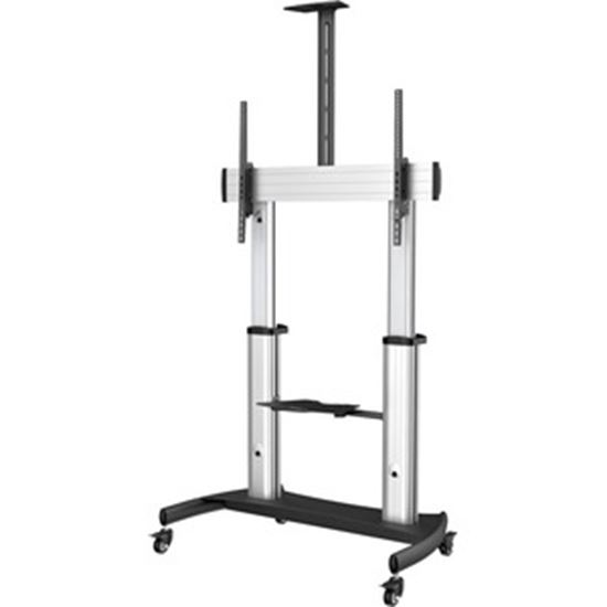 Picture of StarTech.com Mobile TV Stand, Heavy Duty Universal TV Cart for 60-100 inch Display (100kg/220lb), Height Adjustable Rolling TV Floor Stand