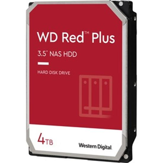 """Picture of WD Red Plus WD40EFZX 4 TB Hard Drive - 3.5"""" Internal - SATA (SATA/600) - Conventional Magnetic Recording (CMR) Method"""
