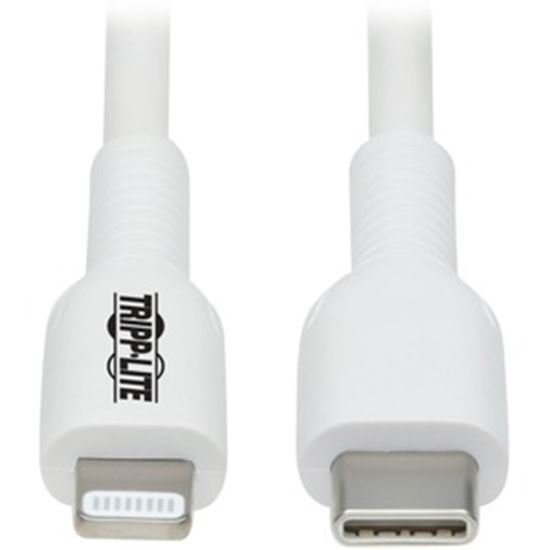 Picture of Tripp Lite USB-C to Lightning Sync/Charge Cable (M/M), MFi Certified, White, 2 m (6.6 ft.)