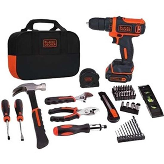 Picture of Black & Decker 12V MAX Lithium Ion Drill/Driver + 59 Piece Project Kit