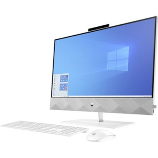 """Picture of HP Pavilion 27-d0000 27-d0057c All-in-One Computer - AMD Ryzen 7 4800H Octa-core (8 Core) 2.90 GHz - 12 GB RAM DDR4 SDRAM - 1 TB HDD - 256 GB M.2 PCI Express NVMe SSD - 27"""" Full HD 1920 x 1080 Touchscreen Display - Desktop - Refurbished"""