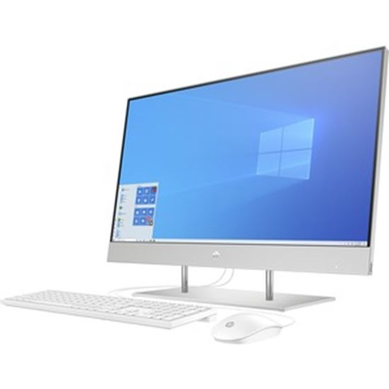 """Picture of HP 27-dp0000 27-dp0170 All-in-One Computer - Intel Core i5 10th Gen i5-1035G1 Quad-core (4 Core) 1 GHz - 12 GB RAM DDR4 SDRAM - 512 GB M.2 PCI Express NVMe SSD - 27"""" Full HD 1920 x 1080 Touchscreen Display - Desktop - Natural Silver"""
