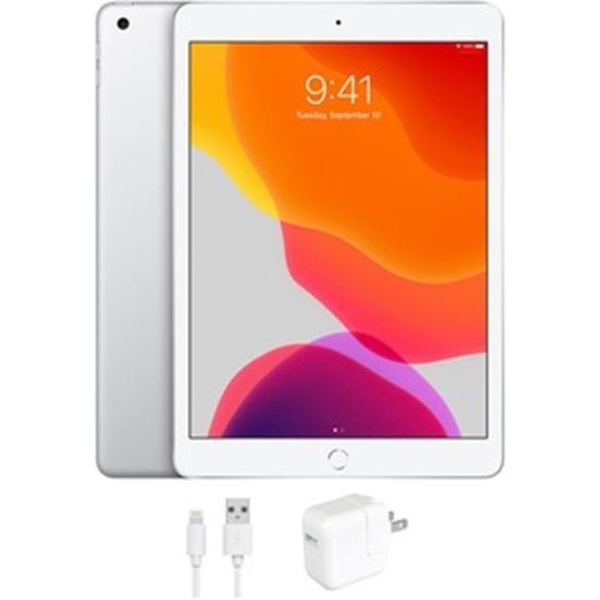 Picture of Refurbished Apple iPad 7 (7th Gen, 2019), 32GB, WiFi, Silver, 1 Year Warranty from eReplacements - (A2197, IPAD7SL32, MW752LL/A)
