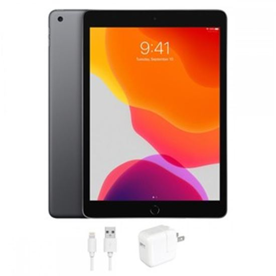 Picture of Refurbished Apple iPad 7 (7th Gen, 2019), 128GB, WiFi, Space Gray, 1 Year Warranty from eReplacements - (A2197, IPAD7SG128, MW772LL/A)