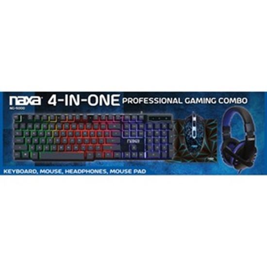 Picture of Naxa 4-In-One Professional Gaming Combo