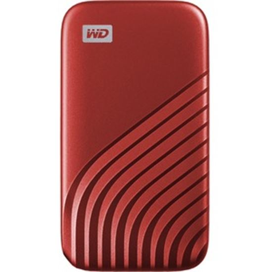 Picture of SanDisk My Passport WDBAGF0020BRD-WESN 2 TB Portable Solid State Drive - External - Red