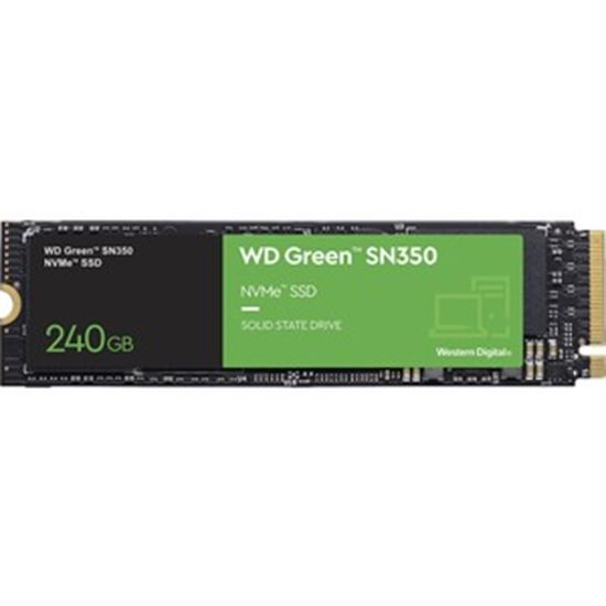 Picture of WD Green SN350 WDS240G2G0C 240 GB Solid State Drive - M.2 2280 Internal - PCI Express NVMe (PCI Express NVMe 3.0 x4)