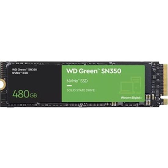 Picture of WD Green SN350 WDS480G2G0C 480 GB Solid State Drive - M.2 2280 Internal - PCI Express NVMe (PCI Express NVMe 3.0 x4)