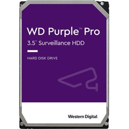 """Picture of WD Purple Pro WD181PURP 18 TB Hard Drive - 3.5"""" Internal - SATA (SATA/600) - Conventional Magnetic Recording (CMR) Method"""