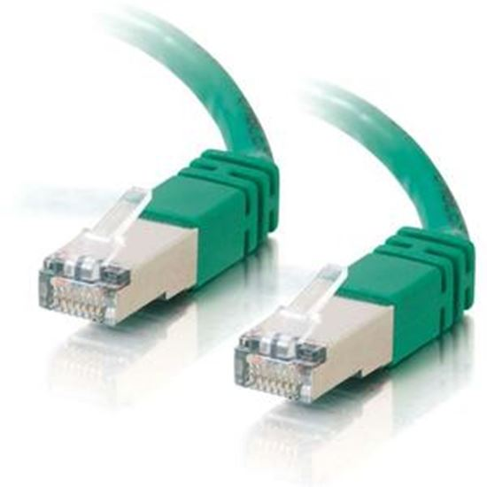 Picture of C2G-25ft Cat5e Molded Shielded (STP) Network Patch Cable - Green