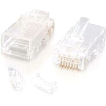 Picture of C2G RJ45 Cat5E Modular Plug (with Load Bar) for Round Solid/Stranded Cable - 25pk