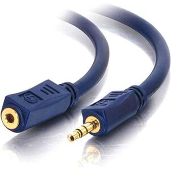 Picture of C2G 12ft Velocity 3.5mm M/F Stereo Audio Extension Cable