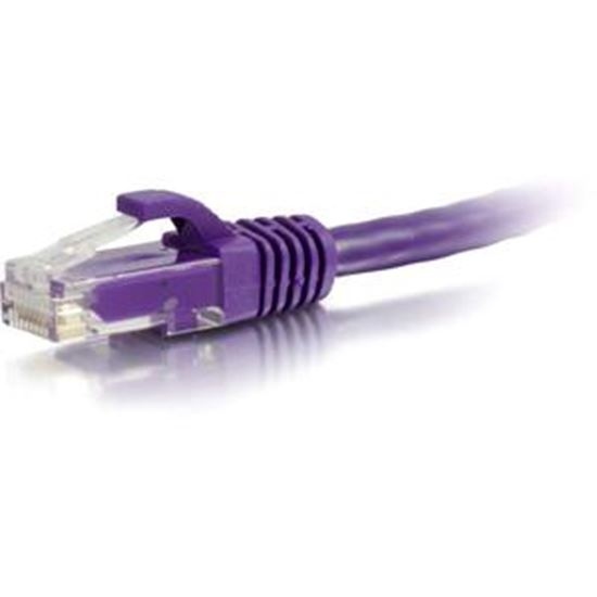 Picture of C2G-50ft Cat5e Snagless Unshielded (UTP) Network Patch Cable - Purple