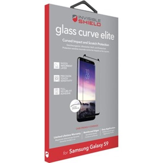 Picture of invisibleSHIELD Glass Curve Elite Screen Protector Black, Transparent