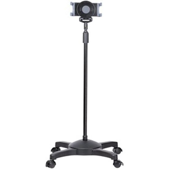 Picture of StarTech.com Mobile Tablet Stand with wheels, Height Adjustable, Universal Rolling Tablet Stand for 7 to 11 inch w/ Detachable Holder, TAA